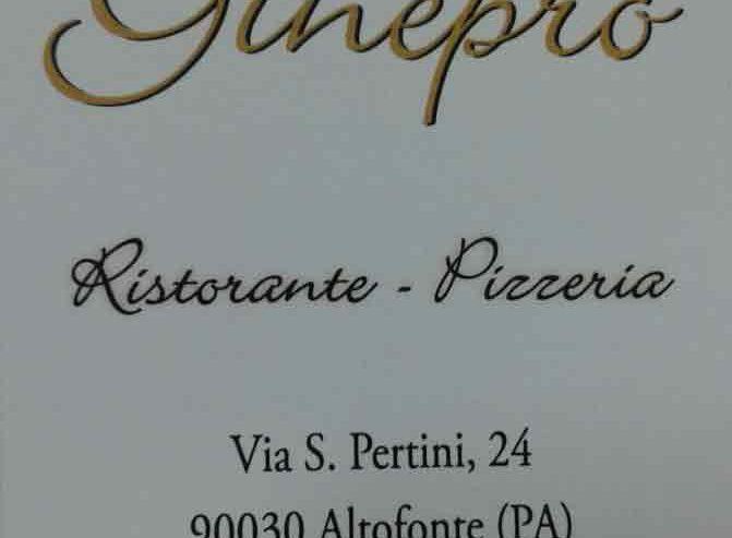 """Ristorante – Pizzeria """"Ginepro"""""""