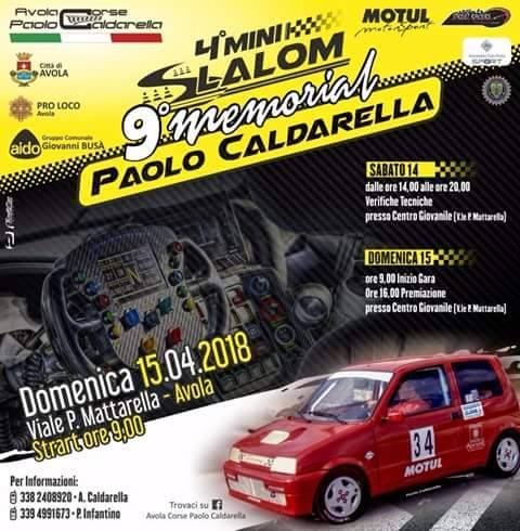 Slalom Memorial Paolo Caldarella 15 Aprile 2018