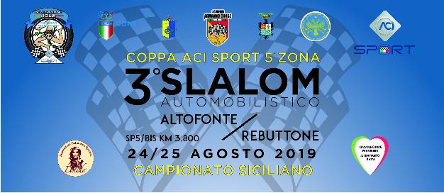 3° Slalom Automobilistico Altofonte/Rebuttone. Iscrizioni aperte, i dettagli sulla corsa